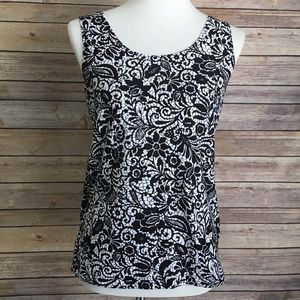 Chico's Stamped Lace Contemporary Tank